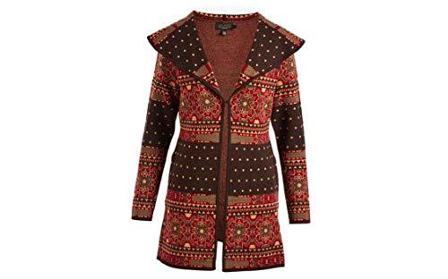 Icelandic Design Women's Shakira 100% Merino Wool Sweater Wrap, Size Small
