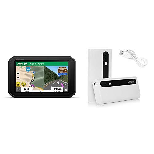 Garmin RV 785 & Traffic, Advanced GPS Navigator for RVs 010-02228-00 and Aibocn 10,000mAh Portable Battery Charger Bundle
