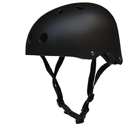 Northbear Bicycle Skateboard Helmets Street Dance Cap Outdoor Cycling Climbing Rock Climbing Rafting Safety Helmets L/Black: Toys & Games