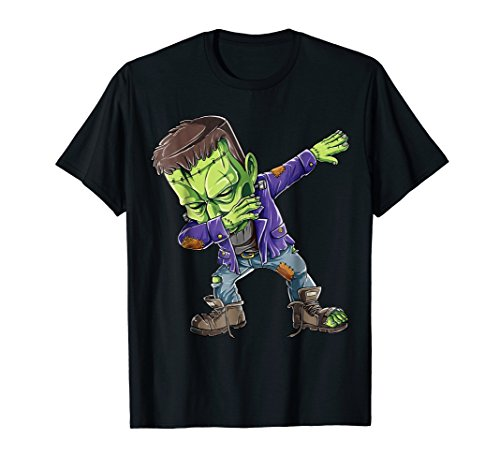Dabbing Frankenstein T shirt Halloween Kids Monster Zombie