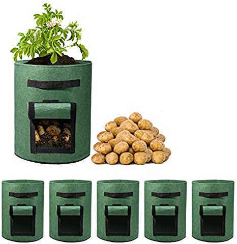 10 Gallon Plants Growing Bag Vegetable Flower Aeration Planting Pot Container US
