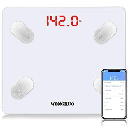 Bluetooth Body Fat Scale,24 Key Body Composition Monitor Wireless Digital Bathroom Scales Weight Analyzer with Free iOS and Android APP,Sync Data with Apple Health,Google Fit or Fitbit