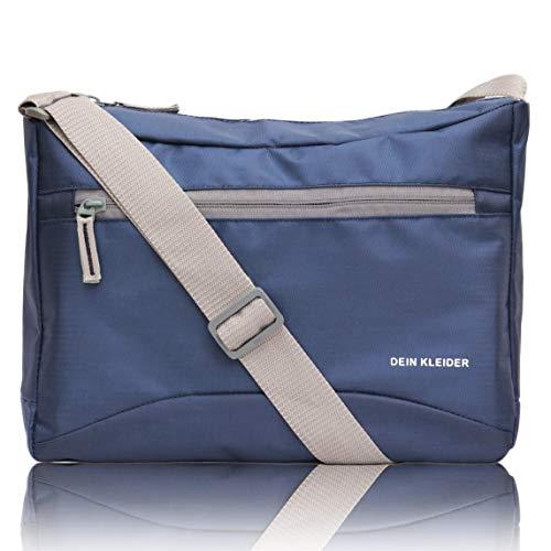 Dein Kleider Nylon Sling Cross Body Travel Office Business Messenger one Side Shoulder Bag for Men and Women (Blue)
