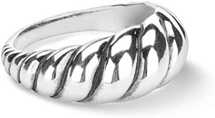 Carolyn Pollack Sterling Silver Smooth Rope Ring