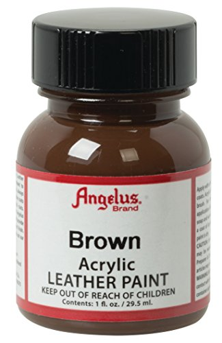 Angelus Acrylic Leather Paint, Brown, 1 oz.