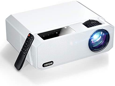 "Native 1080P Projector, Crenova 6800 Lux Home Movie Projector 4K Supported, Full HD LED Video Projector with Dolby, Outdoor iPhone Projector with 200"" Display&50% Zoom for Phone/Laptop/Xbox/TV Sticks"