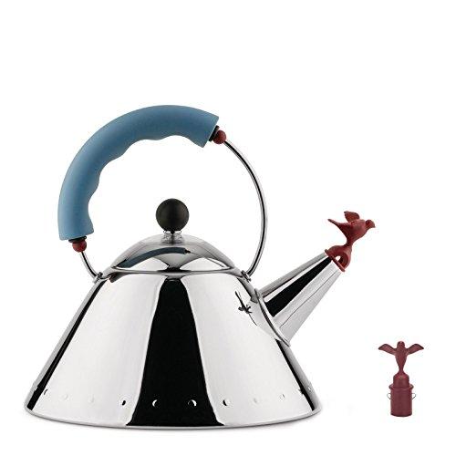 Mod.9093 Michael Graves ''BIRD'' Water Kettle in Original Alessi Box with 2 (Two) Bird Whistles by Alessi