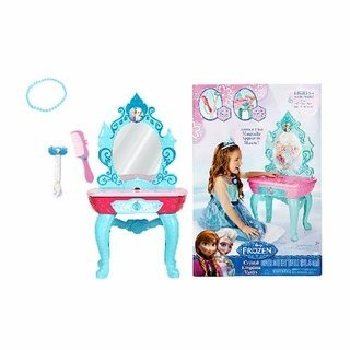 Disney Frozen - Frozen Anna and Elsa Crystal Kingdom Vanity with Accessories - Lights and Sounds - Over 3 Feet Tall