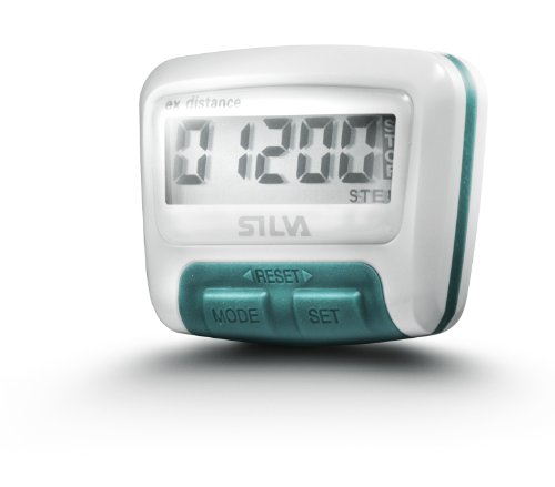 Silva EX Distance Pedometer pedometer - White/Turquoise by Silva by Silva