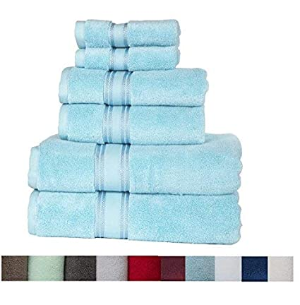 Casa Lino Quick Dry Super Zero Twist 6 Piece Bath Towel Set 7 Star Hotel Luxury Collection, 2 Bath Towel 28x54, 2 Hand Towel- 16x28, Face Towel- 13x13 (White) 2 Bath Towel 28x54 2 Hand Towel- 16x28