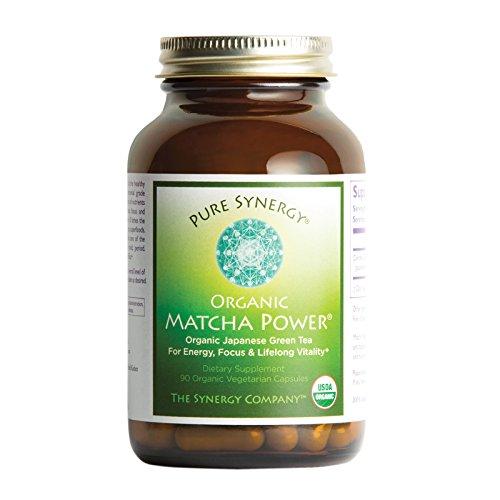 Organic Pure Green - Pure Synergy USDA Organic Matcha Power (90 Capsules) Ceremonial Japanese Green Tea Convenient Capsules
