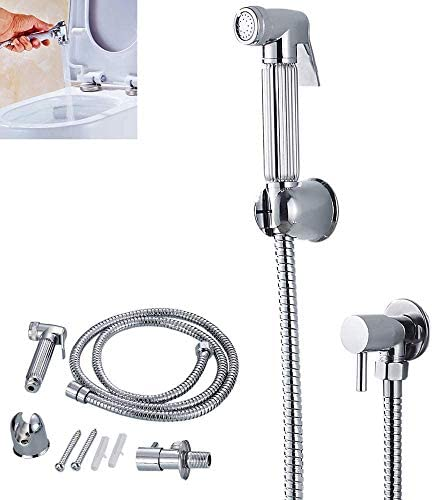 Dmqpp Littleduckling Bidet Sprayer Badezimmer Muslim Shattaf Douche Handtoilettenreiniger Hygiene-Duschkopf Valve Chrome Wasserhahn