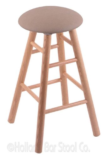 Oak Natural Stool Pub Swivel - Oak Bar Stool in Natural Finish with Rein Thatch Seat