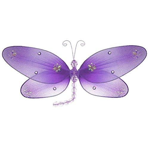 激安通販の The Butterfly Grove Taylor Dragonfly Decoration B00586RXY2 3D Hanging Medium/10\ Mesh by Organza Nylon Decor, Purple Wisteria, Medium, 10x 6 by The Butterfly Grove Medium/10\ Purple Wisteria B00586RXY2, 箸屋助八:334a0998 --- a0267596.xsph.ru