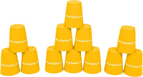 Quick Stack Cups - Speed Training Sports Stacking Cups - Set of 12 by Trademark Innovations , Yellow