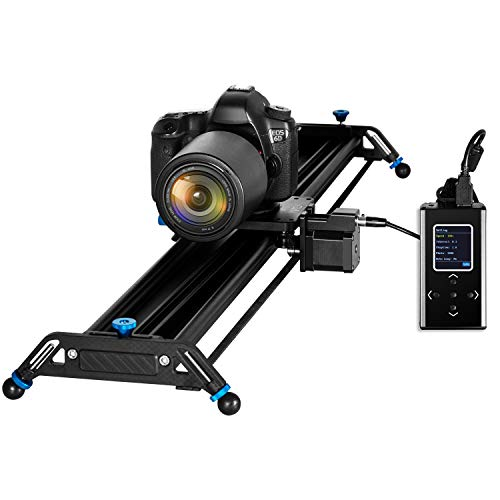 GVM Great Video Maker GT-J80D Motorized Camera Slider Aluminum Alloy Slider Time Lapse Video Shot Camera Dolly Slider with Controller for DSLR Camera DV Video Camcorder Film Photography