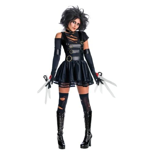 Secret Wishes Womens Edward Scissorhands Miss Scissorhands Costume, Black, Large