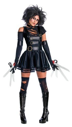 Edward Halloween Costume (Secret Wishes Womens Edward Scissorhands Miss Scissorhands Costume, Black, Medium)