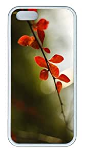 iPhone 5S Customized Unique Landscape Flowers Plant With Thorns New Fashion TPU White iPhone 5/5S Cases