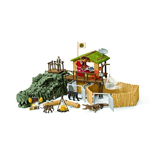 Schleich Wild Life CROCO Jungle Research Station Toy Figure