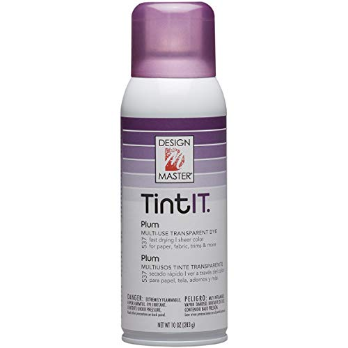 Design Master Tint IT Transparent Dye Spray Paint, 10-Ounce, Plum ()