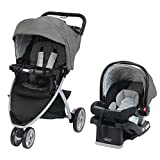Graco 1979995 Pace Click Connect Travel System with SnugRide 30 LX-SECK30LX Pipp, Black/Brown