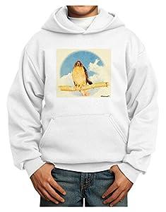 TooLoud Red-tailed Hawk Youth Hoodie Pullover Sweatshirt
