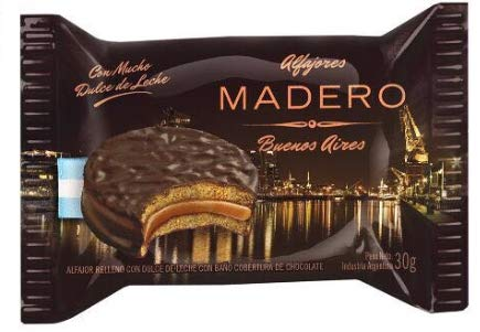 Chocolate Covered Classic Alfajores (Chocolate covered Dulce de leche, 6 Units): Amazon.com: Grocery & Gourmet Food