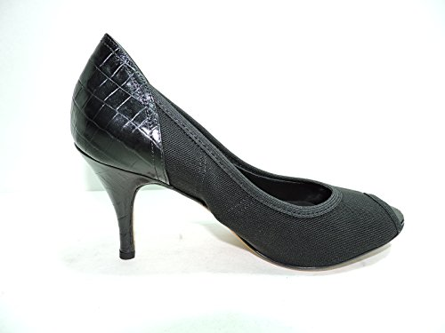 Donald J Pliner Couture Womens Zorba Black Mesh Elastic Alligator Peep Toe Pumps Heels Size 6.5 M