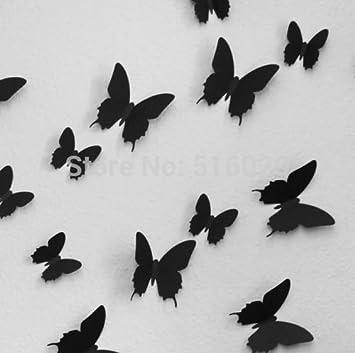 12/Set 6 Big + 6 kleine PVC-3D Schmetterling Tatoos ...
