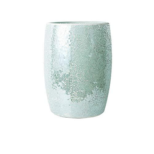 (Whole Housewares Bathroom Wastebasket - Glass Mosaic Decorative Trash Can Dia 7.5