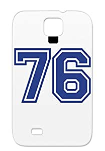 Skid-proof 76 Symbols Shapes Miscellaneous Number Protective Case For Sumsang Galaxy S4 Navy TPU