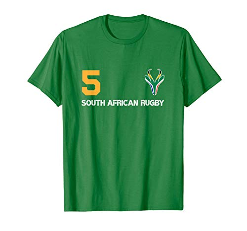 South Africa Flag Rugby No5 Lock Bokke T-Shirt (Was South Africa Ever A British Colony)