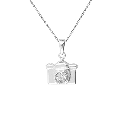 8dedc2b7f81d8a Buy LeCalla Sterling Silver Classic Funky Camera Selfie White Color Necklace  for Women Online at Low Prices in India | Amazon Jewellery Store - Amazon.in