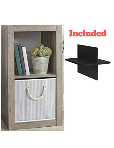 Better Homes and Gardens 2-Cube Organizer in Rustic Gray with Quad Cube Storage Shelf Review