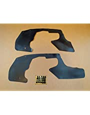 Set of Splash Shields With Clips For Toyota Tacoma 1995-2004 All Models (Fender Liners, Aprons, Shields, Splash Guards, Skirts, Guards, Seals, Splash Seals) H