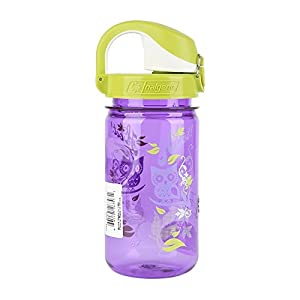 Nalgene Kids OTF Hoot Bottle (Purple/Green, 12-Ounce)