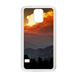 Kweet Dawn Samsung Galaxy S5 Case Mountains and Clouds in the Dawn, Dawn, {White}