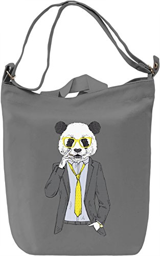 Cool panda Borsa Giornaliera Canvas Canvas Day Bag| 100% Premium Cotton Canvas| DTG Printing|