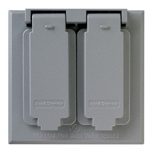 Legrand-Pass /& Seymour CA82G Pass /& Seymour Ca82-G Grey 2 Duplex Receptacle Weatherproof Cover