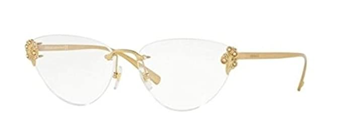 515c3ec4490 Image Unavailable. Image not available for. Color  Versace VE1254B Eyeglass  Frames 1428-56 - Tribute Gold ...