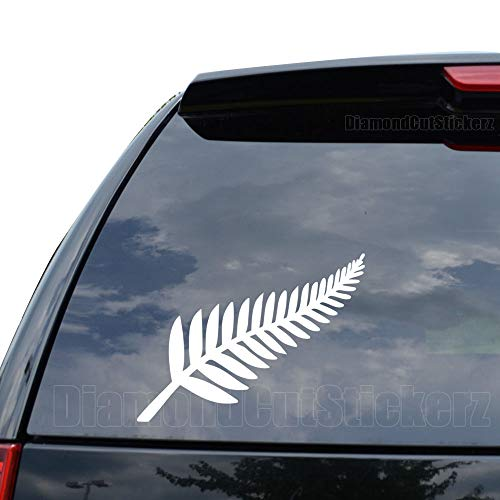 New Zealand Silver Fern Decal Sticker Car Truck Motorcycle Window Ipad Laptop Wall Decor - Size (05 inch / 13 cm Wide) - Color (Matte Black) (New Decorative Wall Stickers)