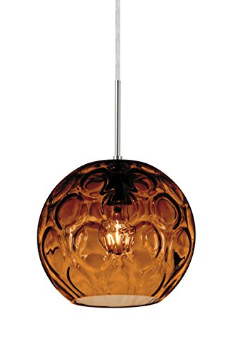 Besa Bombay Cord Pendant with Amber glass
