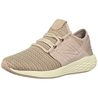 New Balance Women's Fresh Foam Cruz V2 Sneaker, Faded Birch/au Lait/Alabaster, 5.5 B US