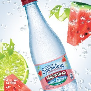 Arrowhead Sparkling Mountain Spring Water, Watermelon Lime, 16.9 Oz Bottle (Pack of 12)