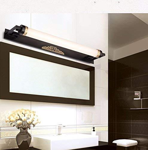 12W67cm Weiß schwarz YHEGV Retro Objektiv Scheinwerfer Led Schlafzimmer Spiegel Lampe Wandlampe Lampe Badezimmer Badezimmerschrank Lampe Make-up, 12W67Cm Weiß Schwarz