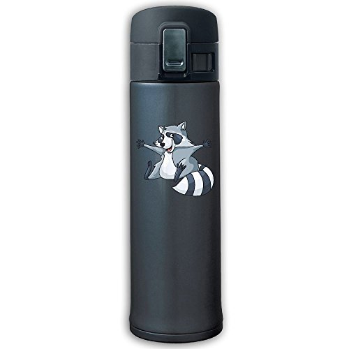Stainless Steel Mug Grey Raccoon Bouncing Cover Insulation Vacuum Cup Bottle Thermos Travel Mug Navy