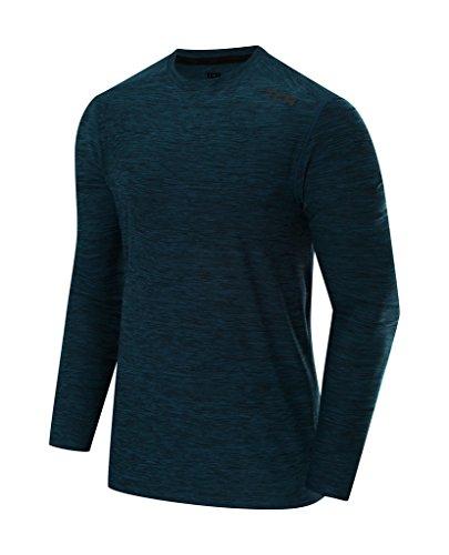 TCA Men's Galaxy Long Sleeve Training Top - Navy Blue, L
