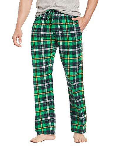 Men's 100% Cotton Super Soft Flannel Plaid Pajama Pants-F210-XL