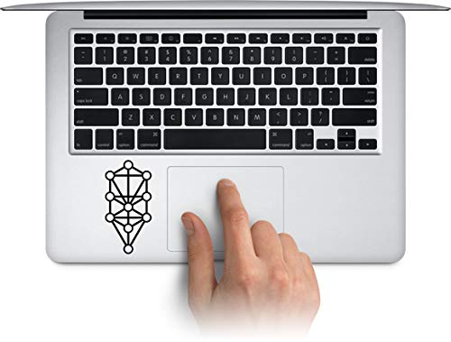 WallDecalArtStudio Kabbalah Vinyl Stickers Laptop Decals for MacBook, Tablets Water Bottle Cup Decals, Waterproof Car Bumper Stickers (Message for Color) ()